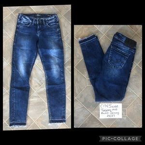 Silver Tuesday Mid Ankle Skinny Jeans